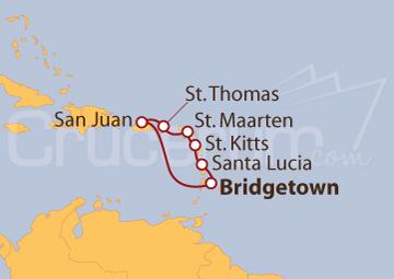 Itinerario Crucero Islas Vírgenes