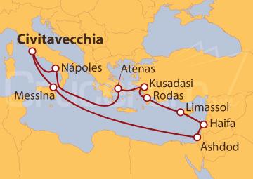 Itinerario Crucero Tierra Santa desde Civitavecchia