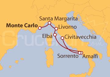 Itinerario Crucero Italia desde Montecarlo