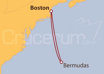 Itinerario Crucero Bermudas desde Boston (EE UU)