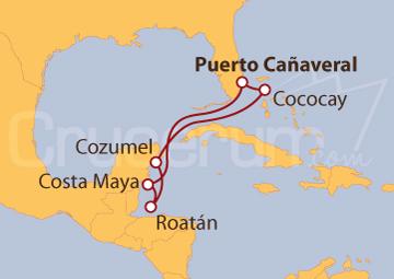Itinerario Crucero Bahamas y Caribe Occidental