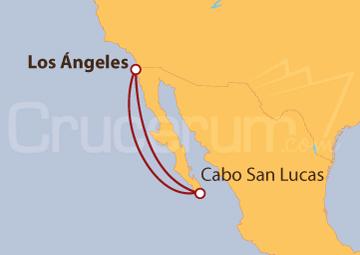 Itinerario Crucero Los Ángeles, ida y vuelta