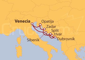 Itinerario Crucero Mar Adriático