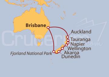 Itinerario Crucero Nueva Zelanda