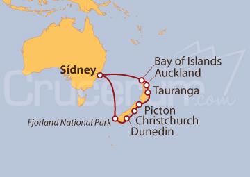 Itinerario Crucero Nueva Zelanda desde Sídney
