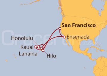 Itinerario Crucero Islas Hawái