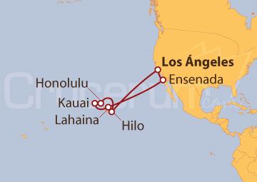 Itinerario Crucero Hawaii desde Los Ángeles