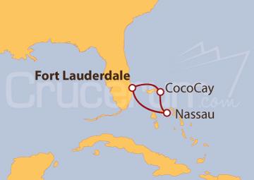 Itinerario Crucero Bahamas