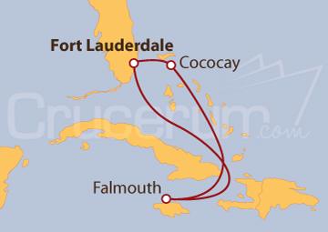 Itinerario Crucero Bahamas y Jamaica