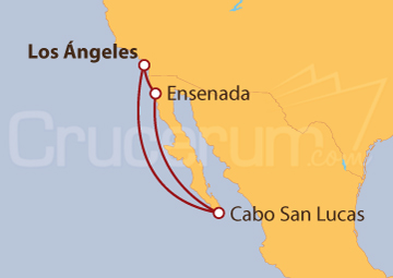 Itinerario Crucero Estados Unidos y México