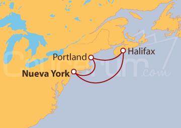Itinerario Crucero Canadá y Nueva Inglaterra desde Nueva York (EE UU)