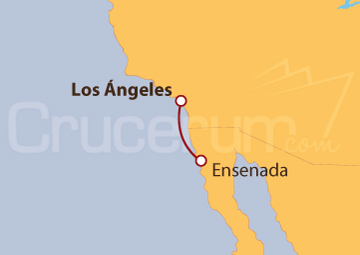 Itinerario Crucero México desde Los Ángeles (EEUU)