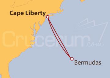Itinerario Crucero Estados Unidos y las Bermudas