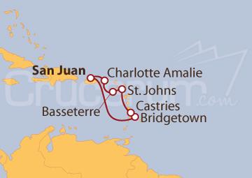 Itinerario Crucero Viaje por el Caribe