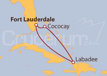 Itinerario Crucero Cococay y Labadee