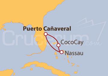 Itinerario Crucero Explorando las Bahamas