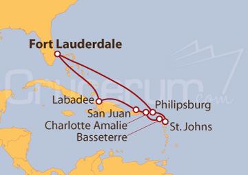 Itinerario Crucero Puerto Rico y Antillas