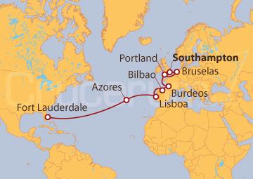 Itinerario Crucero De Southampton (UK) a Fort Lauderdale (EE UU)