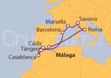 Itinerario Crucero Rumbo a Marruecos