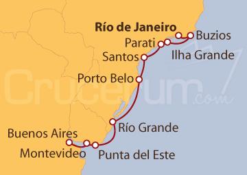 Itinerario Crucero Destacados de Brasil