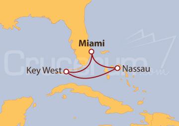 Itinerario Crucero Miami y las Bahamas