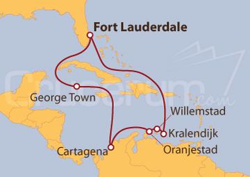 Itinerario Crucero De Fort Lauderdale (EEUU) al Caribe Sur