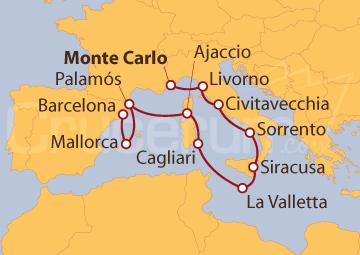 Itinerario Crucero Mosaico Mediterráneo