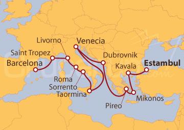 Itinerario Crucero Antigüedades Colosales
