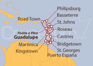 Itinerario Crucero Antillas