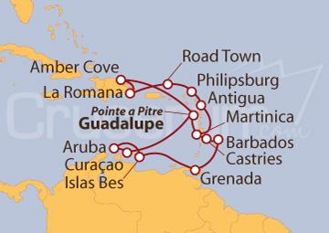 Itinerario Crucero Navegando por el Caribe
