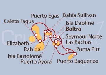 Itinerario Crucero Islas Galápagos