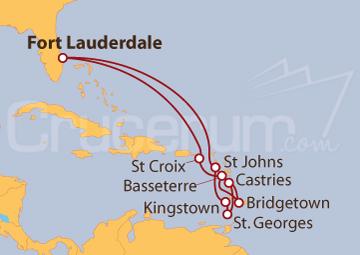 Itinerario Crucero De Miami al Caribe