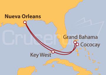 Itinerario Crucero Por las Bahamas