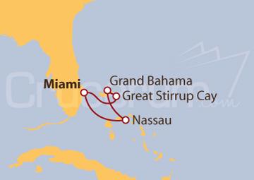 Itinerario Crucero Bahamas desde Puerto Cañaveral (Florida)