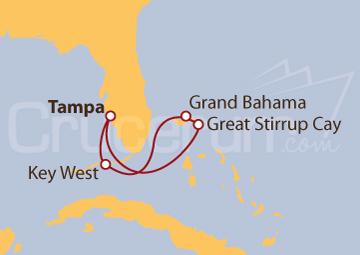 Itinerario Crucero Bahamas y Florida desde Tampa (EE UU)
