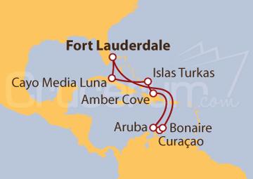 Itinerario Crucero Estados Unidos, Curaçao, Aruba y Bahamas