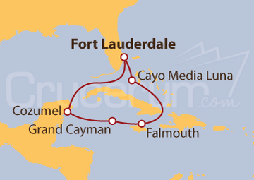 Itinerario Crucero Caribe Occidental