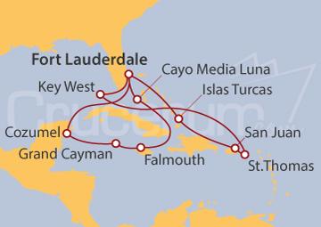 Itinerario Crucero Caribe Oriental y Occidental