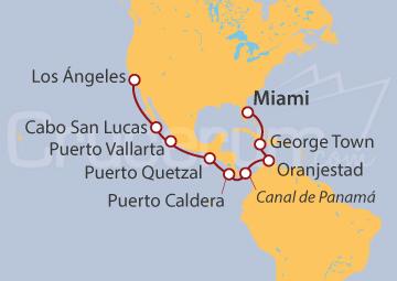 Itinerario Crucero Canal de Panamá
