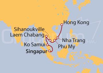 Itinerario Crucero Asia Oriental desde Hong Kong
