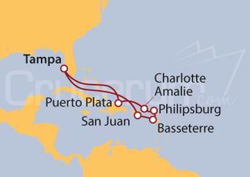 Itinerario Crucero Caribe Oriental