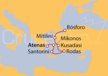 Itinerario Crucero Encuentro en el Egeo