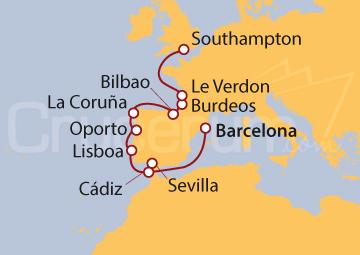 Itinerario Crucero Vinos y Guggenheim