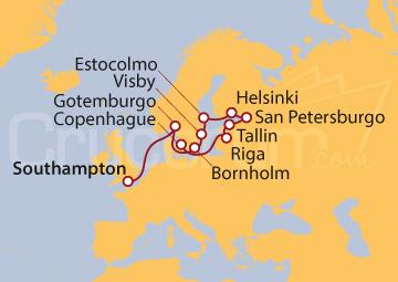 Itinerario Crucero Espíritu Escandinavo