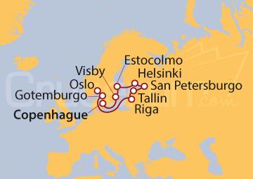 Itinerario Crucero Resplandor del Báltico