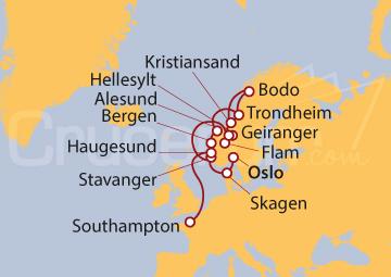 Itinerario Crucero Fiordos Florecientes