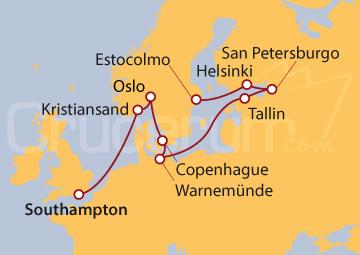 Itinerario Crucero El Arte del Mar del Norte