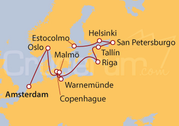 Itinerario Crucero Castillos y Adoquines
