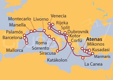 Itinerario Crucero Obra Maestra Medieval