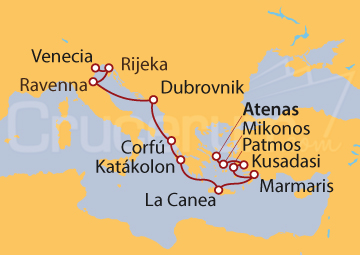 Itinerario Crucero Glorias del Egeo